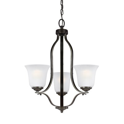 Burhall 3-Light Mini Chandelier Finish: Heirloom Bronze