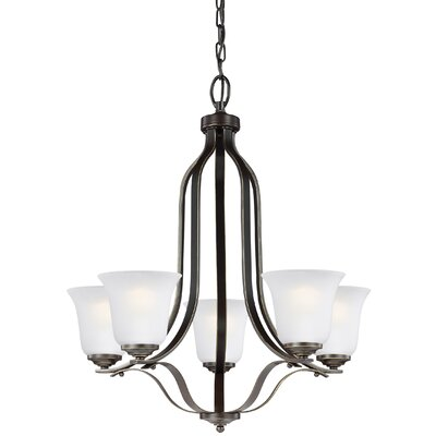 Burhall 9W 5-Light Shaded Chandelier Finish: Heirloom Bronze