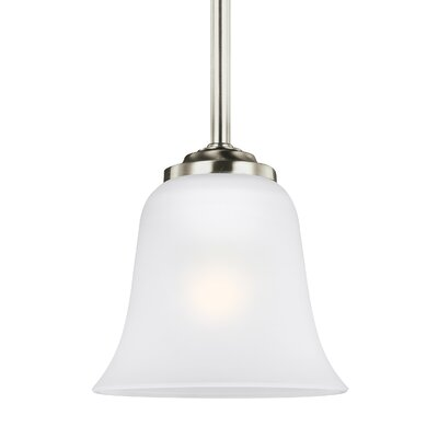 Burhall 1-Light Mini Pendant Finish: Brushed Nickel
