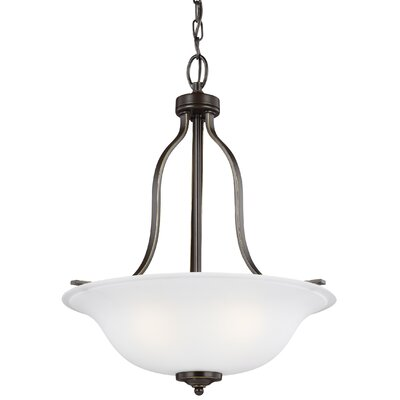 Burhall 3-Light Bowl Pendant Finish: Heirloom Bronze