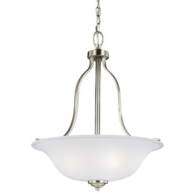 Burhall 3-Light Bowl Pendant Finish: Brushed Nickel