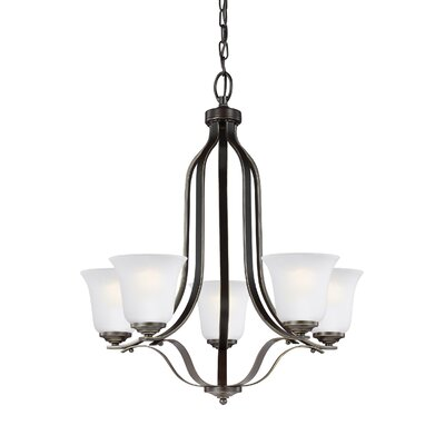 Burhall 5-Light Shaded Chandelier Finish: Heirloom Bronze