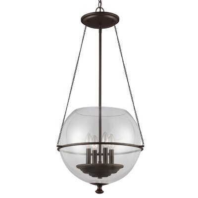 Burley Oak 4-Light Globe Pendant Finish: Autumn Bronze