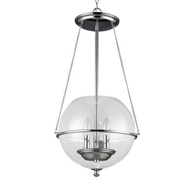 Burley Oak 3-Light Foyer Pendant Finish: Chrome