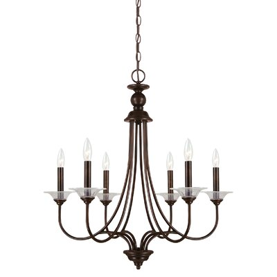Weatherly 6-Light Candle-Style Chandelier Finish: Burnt Sienna