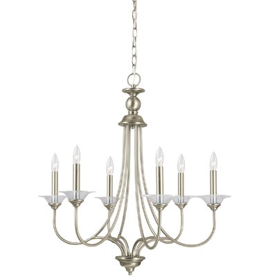 Weatherly 6-Light Candle-Style Chandelier Finish: Antique Brushed Nickel