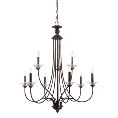 Weatherly 9-Light Candle-Style Chandelier Finish: Burnt Sienna