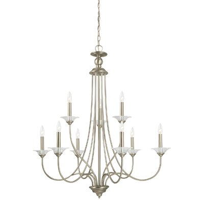Weatherly 9-Light Candle-Style Chandelier Finish: Antique Brushed Nickel