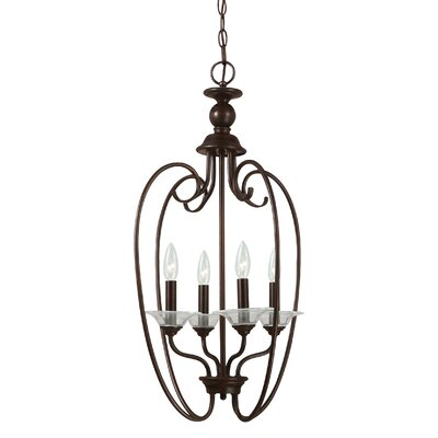 Weatherly 4-Light Foyer Pendant Finish: Burnt Sienna