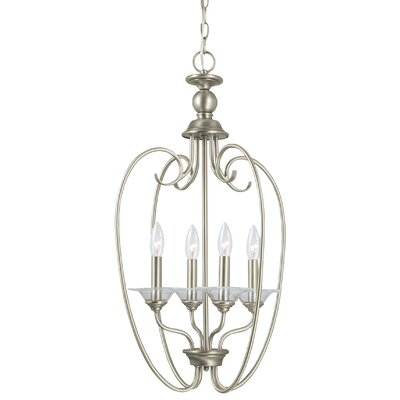 Weatherly 4-Light Foyer Pendant Finish: Antique Brushed Nickel