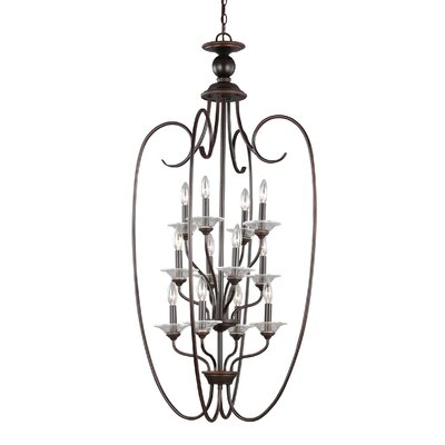 Weatherly 12-Light Foyer Pendant Finish: Burnt Sienna