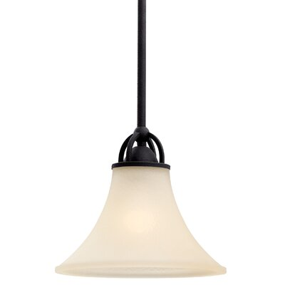 Bushmills 1-Light Mini Pendant Finish: Blacksmith, Shade Color: Caf�