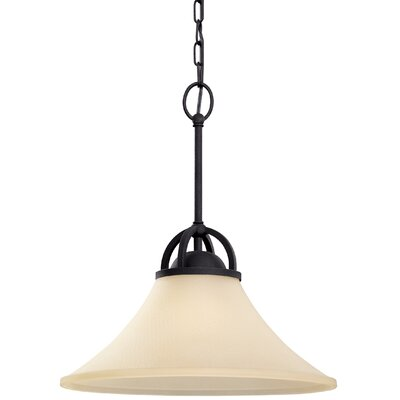 Bushmills 1-Light Inverted Pendant Finish: Blacksmith, Shade Color: Caf�