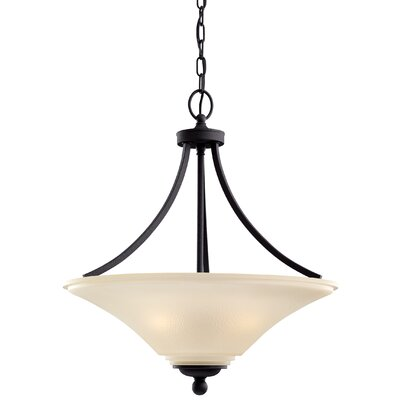 Bushmills 3-Light Bowl Pendant Finish: Blacksmith