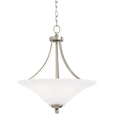 Bushmills 3-Light Bowl Pendant Finish: Antique Brushed Nickel