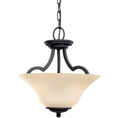 Bushmills 2-Light Bowl Pendant Finish: Blacksmith, Shade Color: Caf�