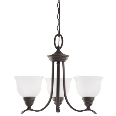 Busti 3-Light Shaded Chandelier