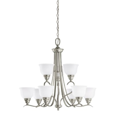 Busti 9-Light Shaded Chandelier Finish: Brushed Nickel