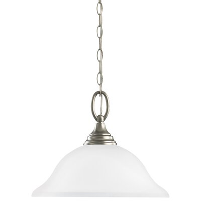 Busti 1-Light Inverted Pendant Base Finish: Brushed Nickel