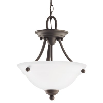 Busti 2-Light Bowl Pendant Base Finish: Heirloom Bronze