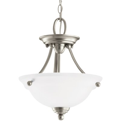 Busti 2-Light Bowl Pendant Base Finish: Brushed Nickel