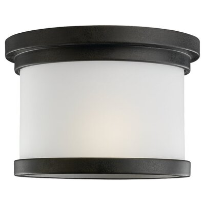 Dashiell 1-Light Flush Mount Finish: Forged Iron