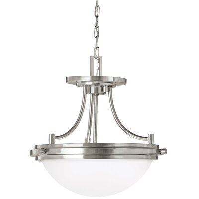 Buswell 2-Light Bowl Pendant Base Finish: Brushed Nickel