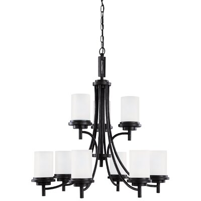 Dashiell 9-Light Shaded Chandelier Finish: Blacksmith