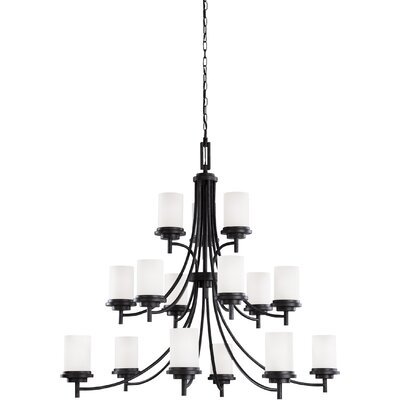 Dashiell 15-Light Shaded Chandelier Finish: Blacksmith