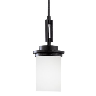 Buswell 1-Light Mini Pendant Base Finish: Blacksmith