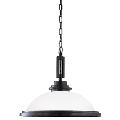 Dashiell 1-Light Inverted Pendant Base Finish: Blacksmith