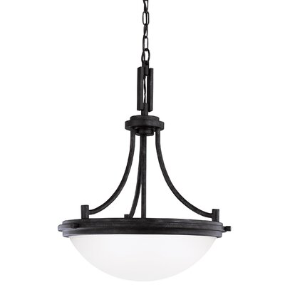 Dashiell 3-Light Bowl Pendant Base Finish: Blacksmith