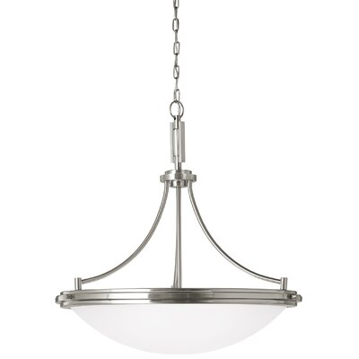 Dashiell 4-Light Bowl Pendant Base Finish: Brushed Nickel