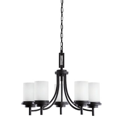 Dashiell 5-Light Candle-Style Chandelier Finish: Blacksmith