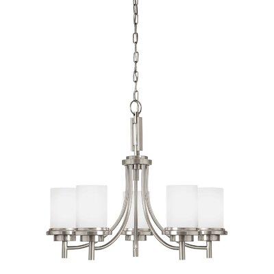 Buswell 5-Light Candle-Style Chandelier Finish: Brushed Nickel