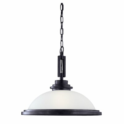 Buswell 1-Light Downlight Inverted Pendant Finish: Blacksmith, Bulb Type: Incandescent A19 150W