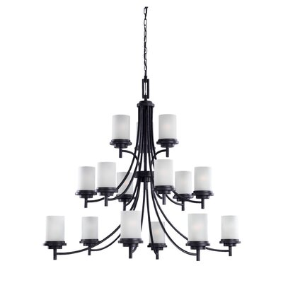 Dashiell 15-Light Chain Shaded Chandelier