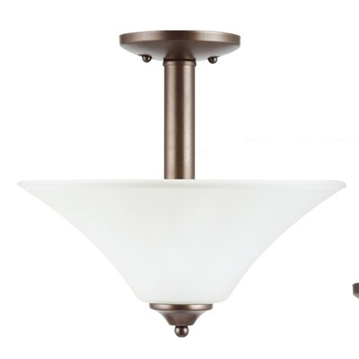 Buren 2-Light Semi-Flush Mount Finish: Bell Metal Bronze