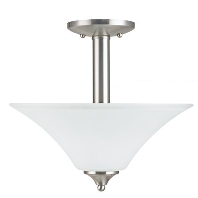 Buren 2-Light Semi-Flush Mount Finish: Brushed Nickel
