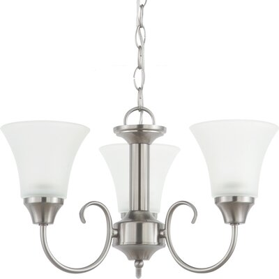 Buren 3-Light Shaded Chandelier Finish: Brushed Nickel