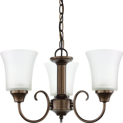Buren 3-Light Shaded Chandelier Finish: Bell Metal Bronze
