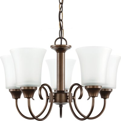 Buren 5-Light Shaded Chandelier Finish: Bell Metal Bronze