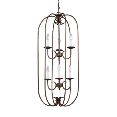 Buren 6-Light Foyer Pendant Finish: Bell Metal Bronze