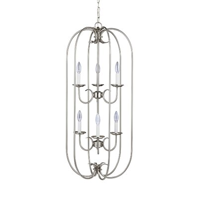 Buren 6-Light Foyer Pendant Finish: Brushed Nickel