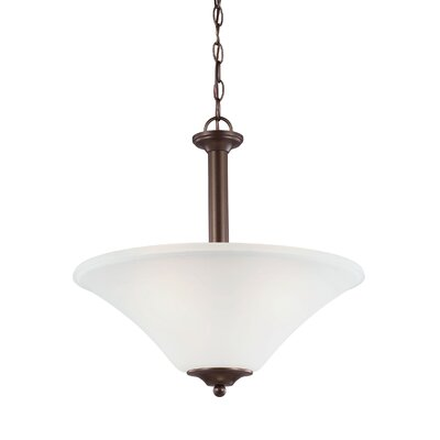 Buren 3-Light Mini Pendant Finish: Bell Metal Bronze, Bulb Type: Fluorescent