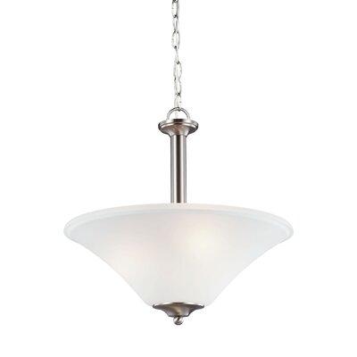 Buren 3-Light Mini Pendant Finish: Brushed Nickel, Bulb Type: Fluorescent