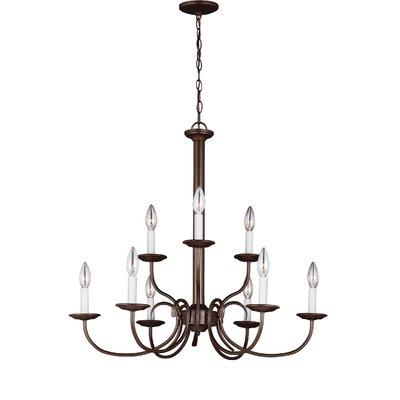 Buren 9-Light Candle-Style Chandelier Finish: Bell Metal Bronze