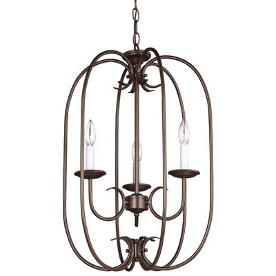 Buren 3-Light Foyer Pendant Finish: Bell Metal Bronze