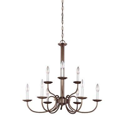 Buren 9-Light Candle-Style Chandelier Finish: Bronze