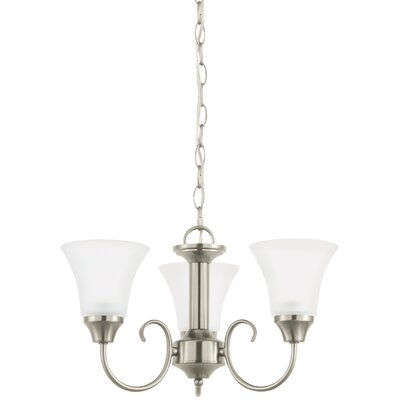 Buren 3-Light Mini Chandelier Finish: Brushed Nickel